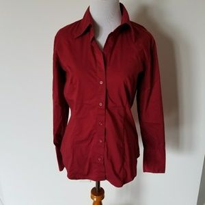NY&Co Red Button Down
